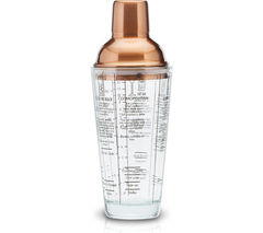 BAR CRAFT Luxe Lounge Boston Cocktail Shaker - Copper
