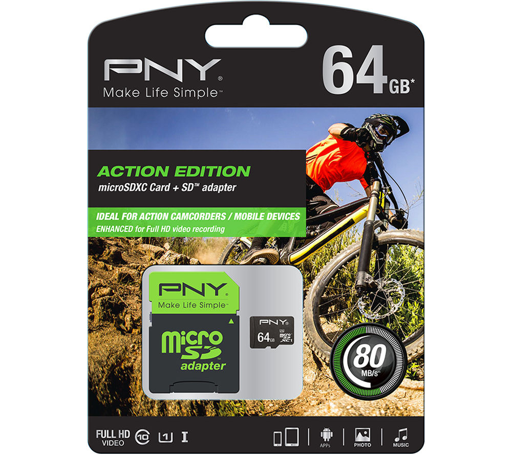 PNY High Performance Class 10 microSD Memory Card - 64 GB