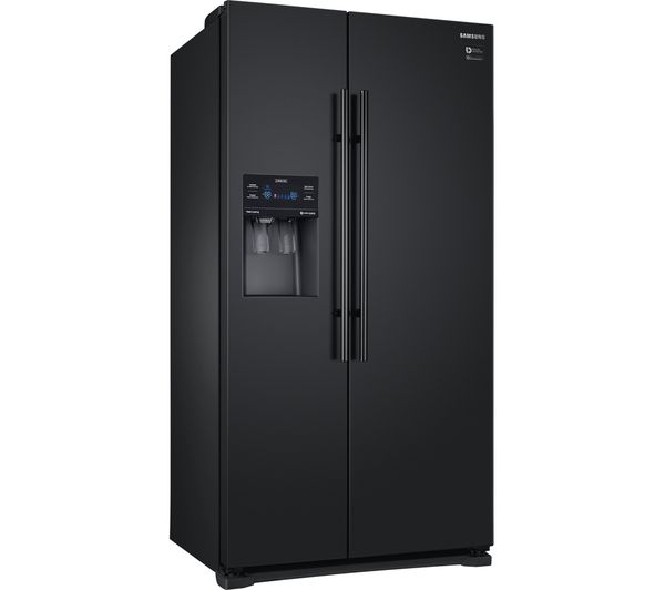 Black american style fridge freezer