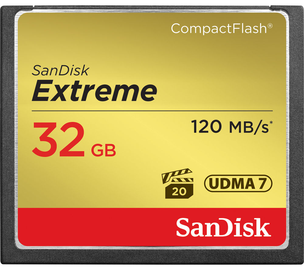 SANDISK  Extreme Compact Flash Memory Card - 32 GB.