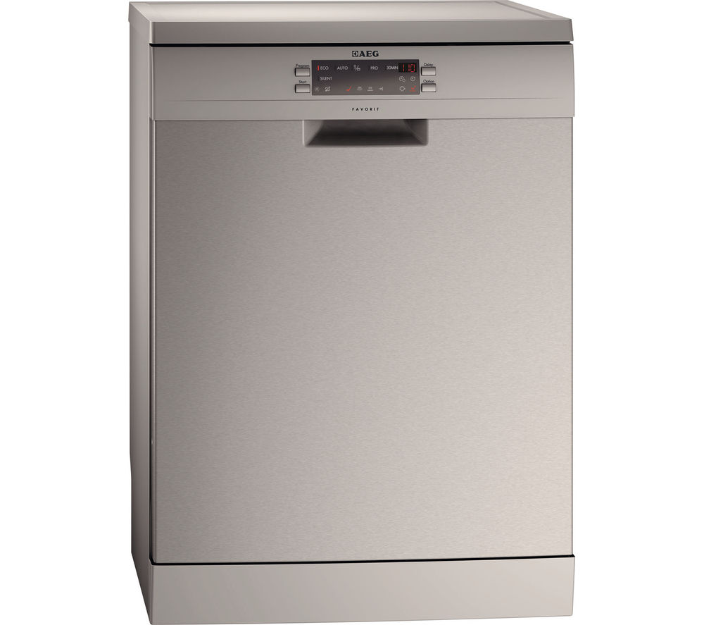 AEG  F66609M0P Fullsize Dishwasher  Stainless Steel Stainless Steel