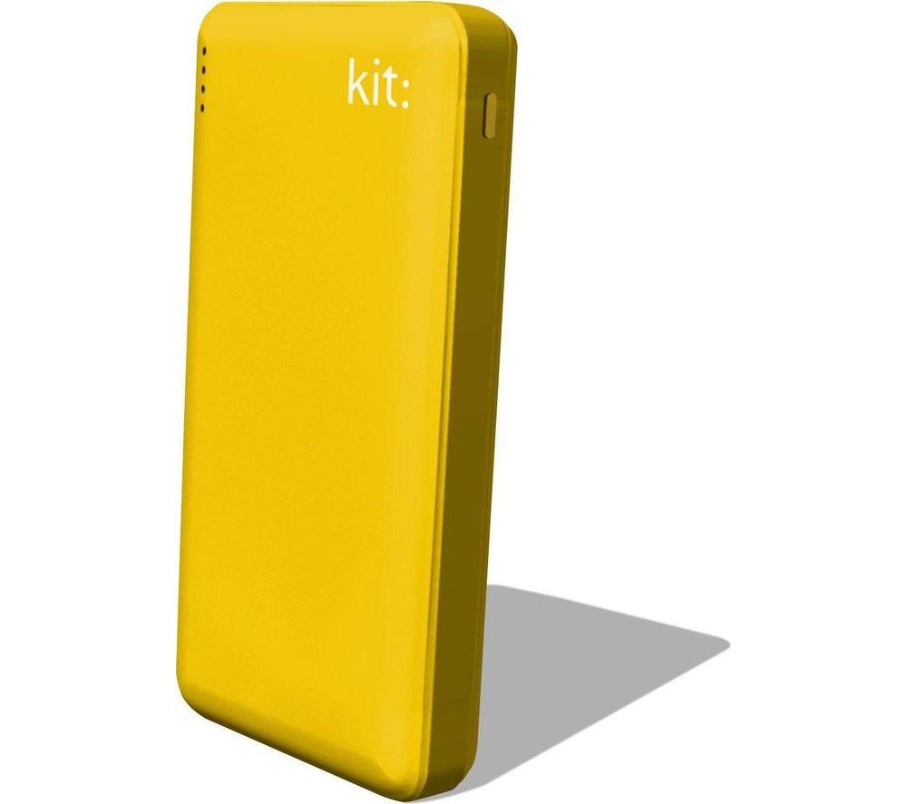 KIT FRESH 12000 mAh Portable Power Bank - Yellow