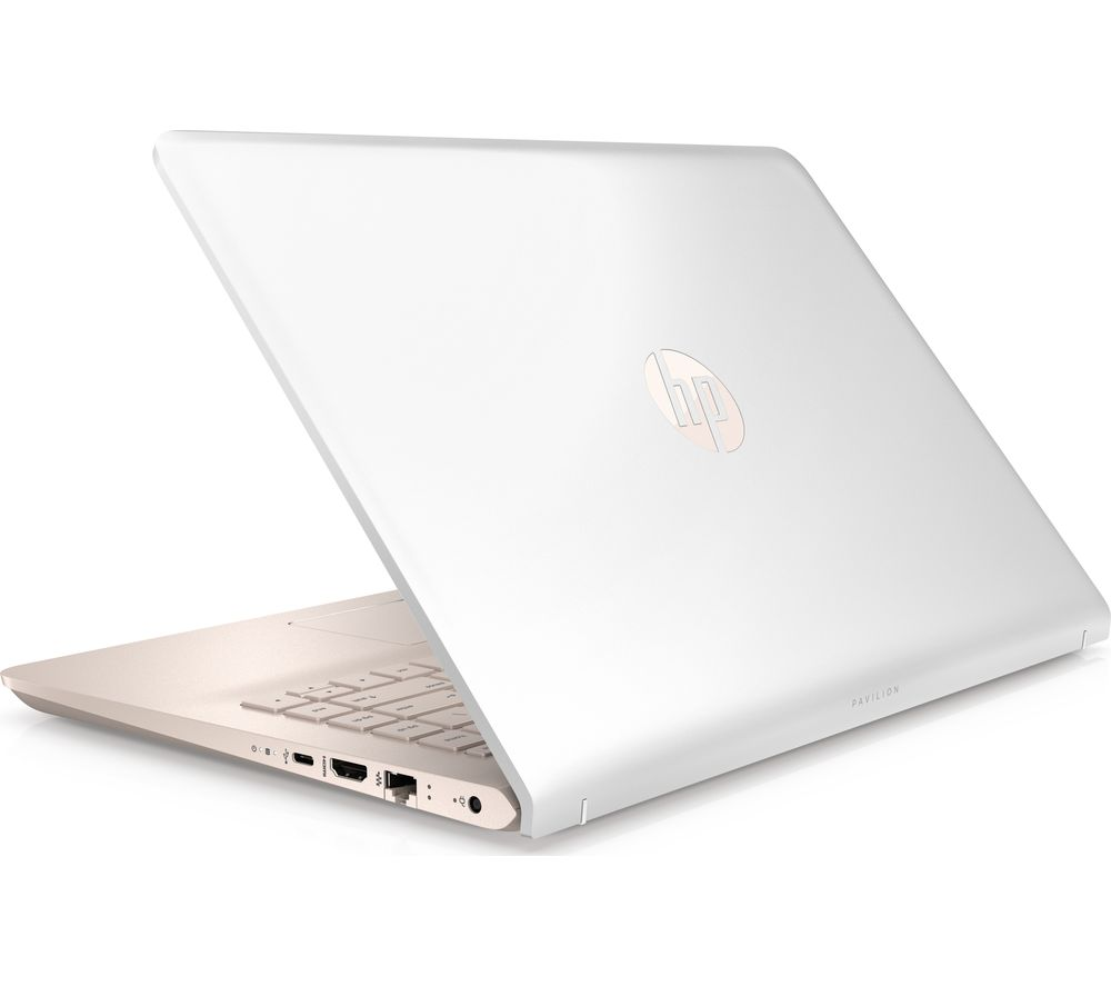 "HP Pavilion 14-bk069sa 14"" Laptop - White & Rose Gold + Office 365 Home + LiveSafe Unlimited 2017 - 1 year"