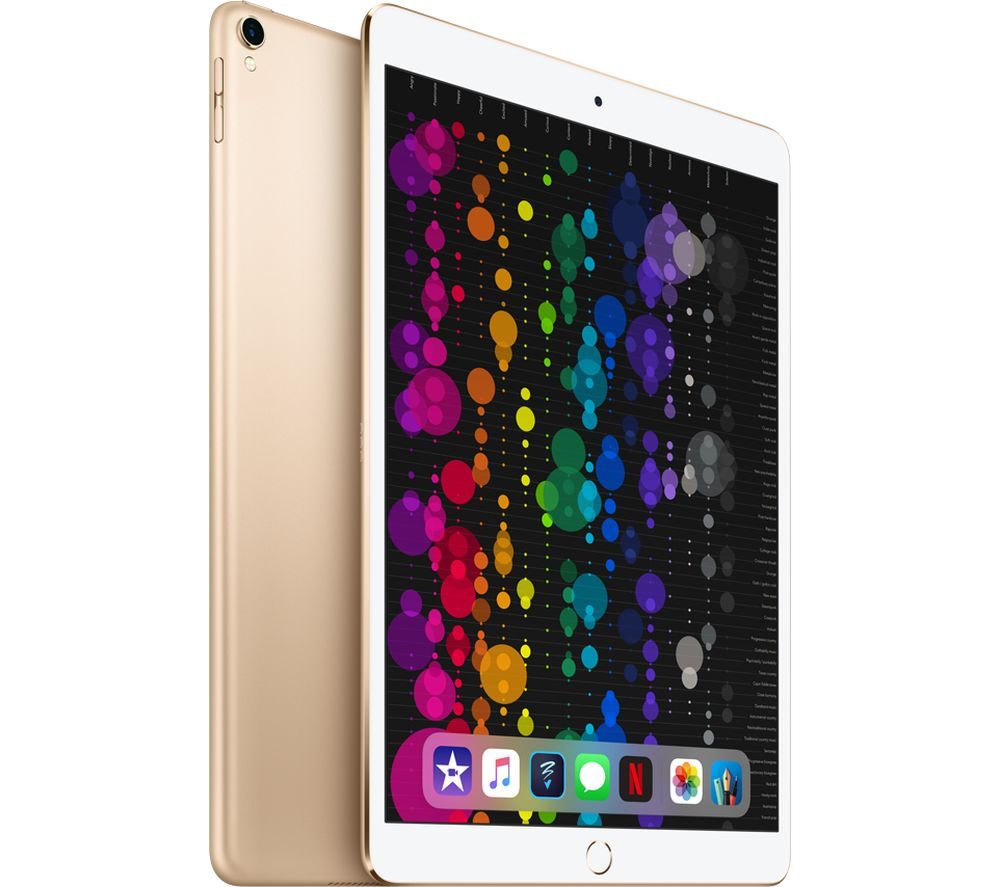 "APPLE 10.5"" iPad Pro Cellular - 512 GB, Gold (2017) + iPad Pro 10.5"" Smart Cover - Charcoal"