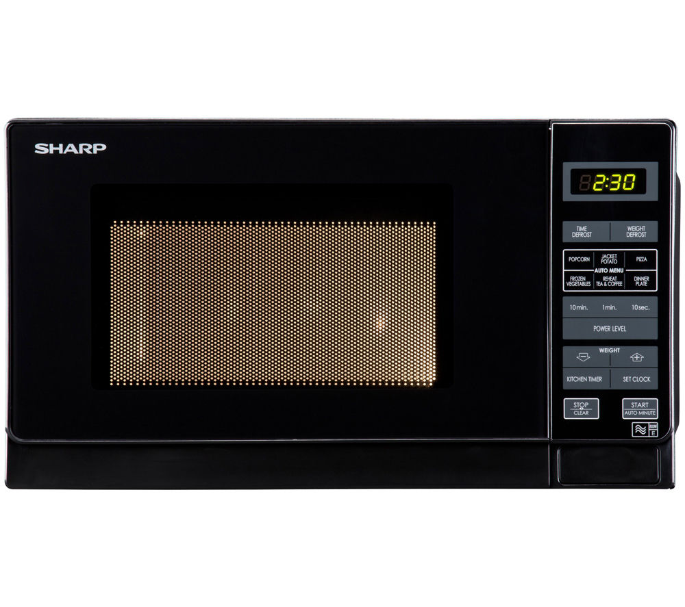 SHARP R272KM Solo Microwave - Black