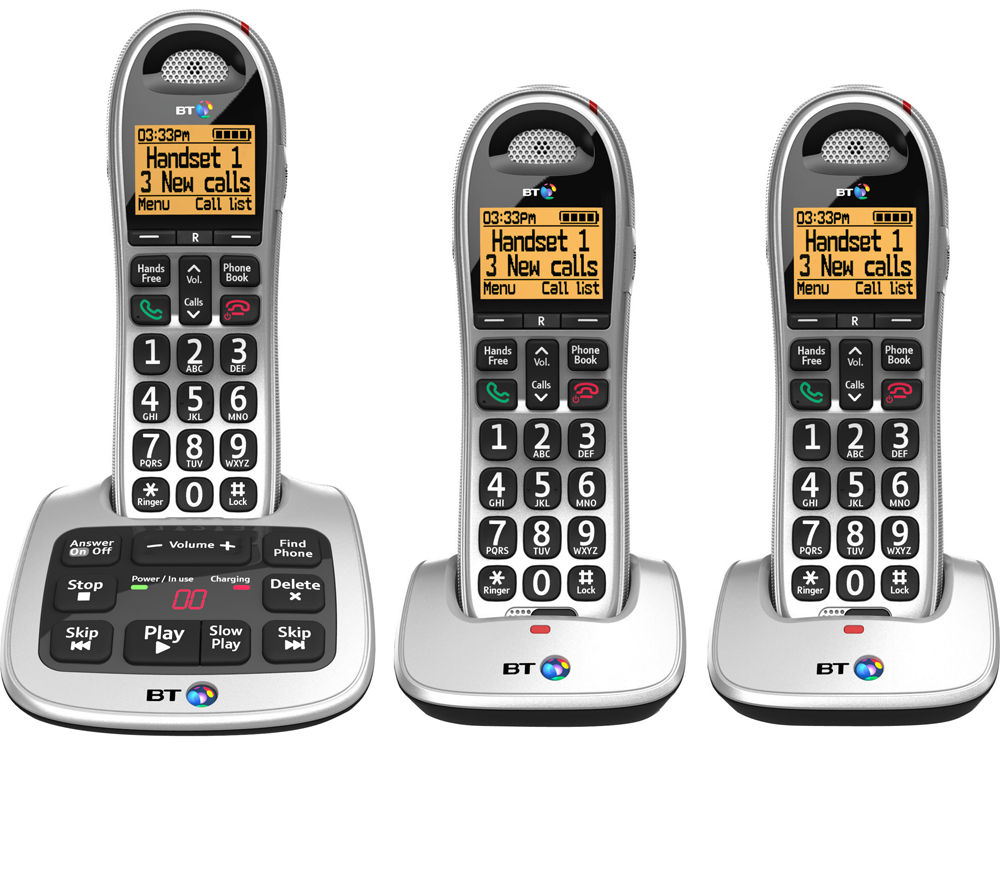 buy bt 4500 cordless phone with answering machine triple. Black Bedroom Furniture Sets. Home Design Ideas