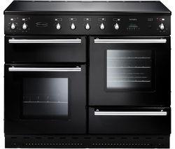 RANGEMASTER Toledo 110 Electric Ceramic Range Cooker - Black & Chrome
