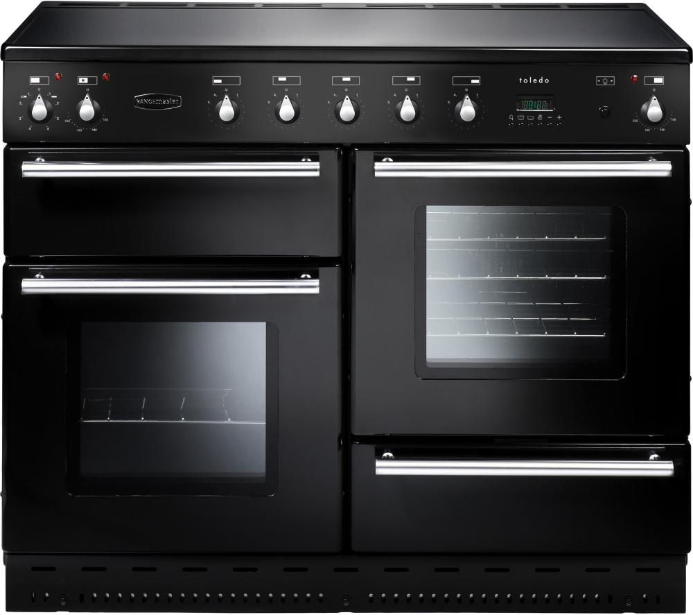 RANGEMASTER Toledo 110 Electric Ceramic Range Cooker - Black & Chrome