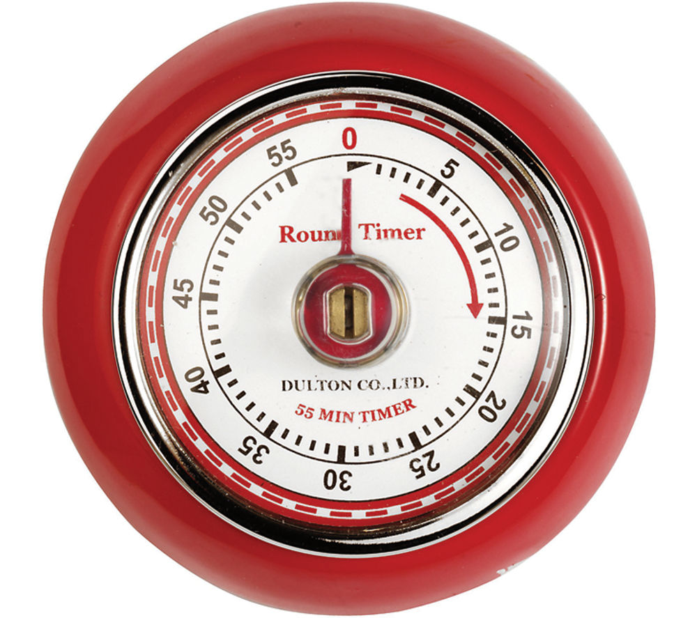 EDDINGTONS Retro Magnetic Kitchen Timer - Red