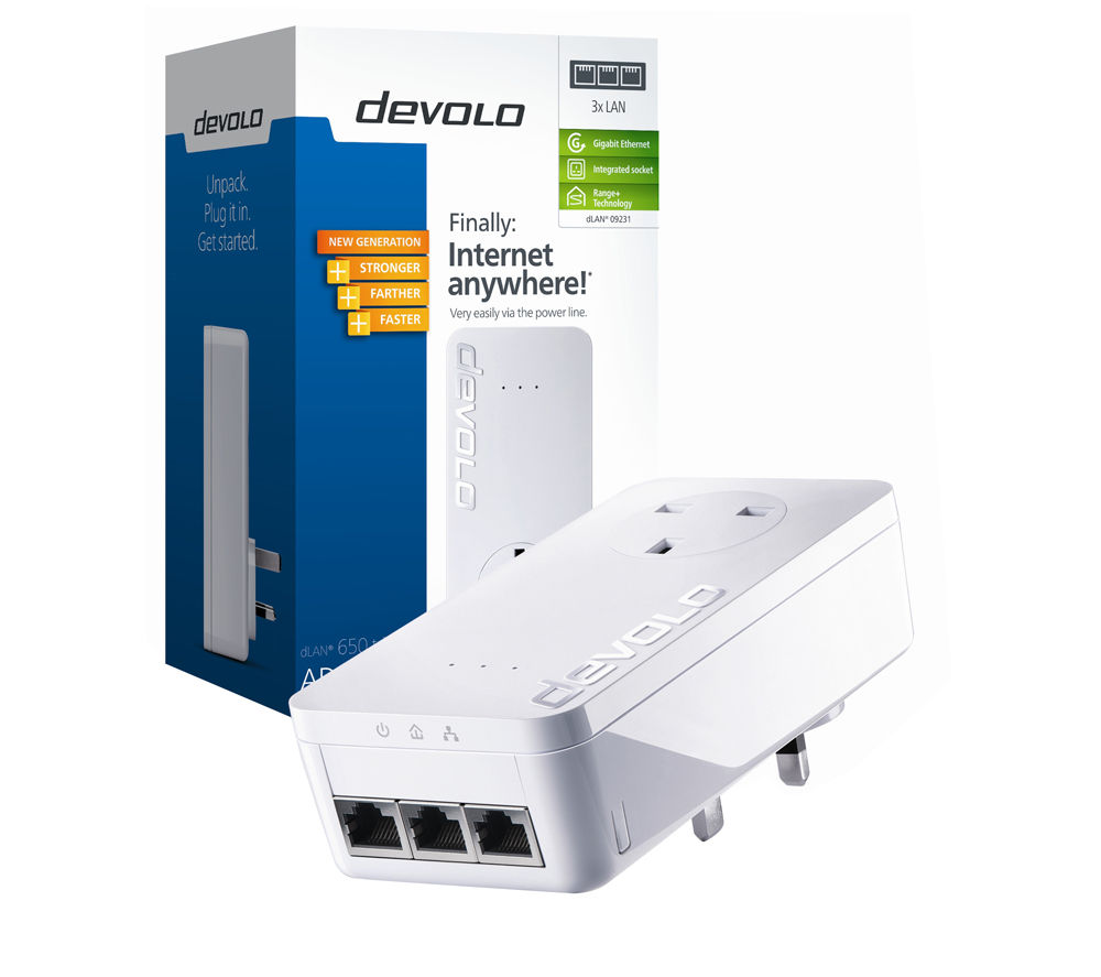 DEVOLO dLAN 650 Triple+ Powerline Adapter Add-on