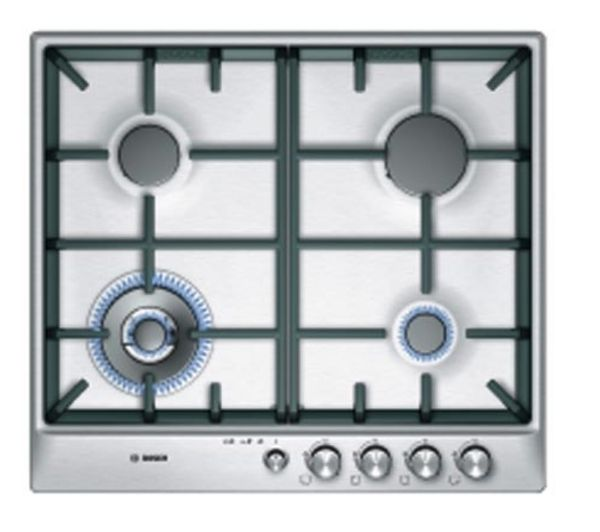 BOSCH PCH615M90E Gas Hob - Stainless Steel