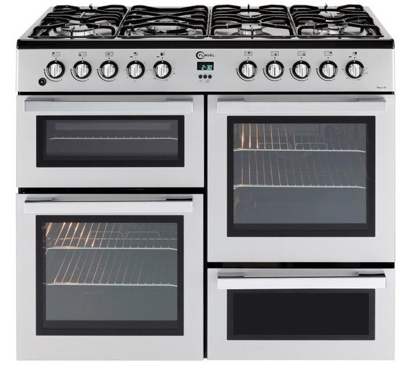 FLAVEL MLN10FRS Dual Fuel Range Cooker - Silver & Chrome