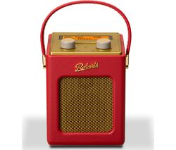 ROBERTS Revival Mini Portable DAB+ Radio - Red & Gold
