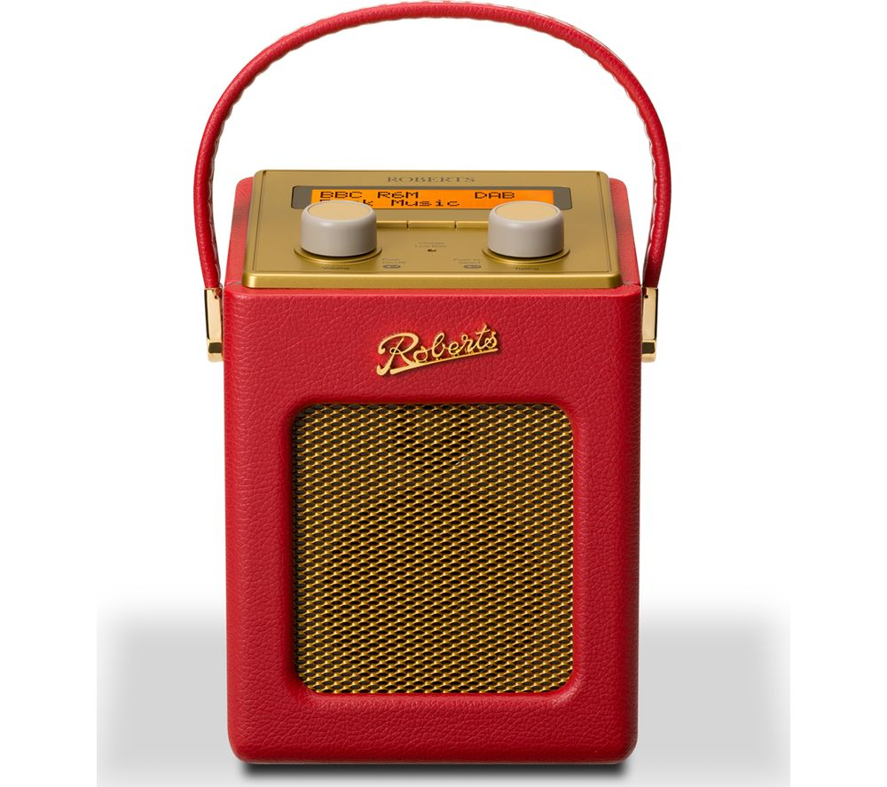 Click to view more of ROBERTS  Revival Mini Portable DAB Radio - Red & Gold, Red