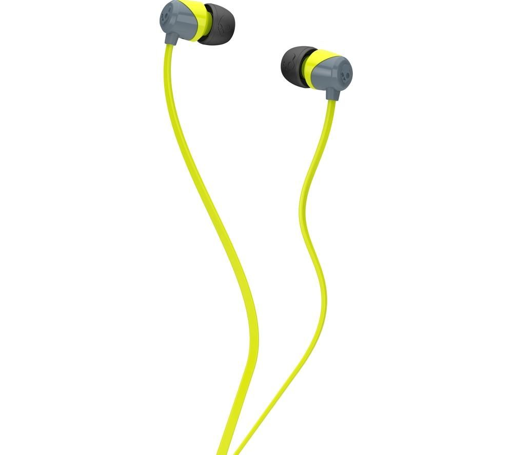 Skullcandy Skullcandy Jib Headphones  Grey & Hot Lime Grey