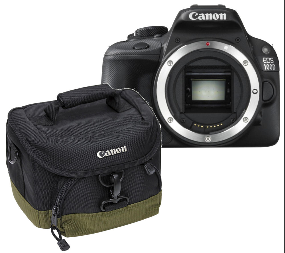 Canon EOS 100D DSLR Camera - Body Only with 100EG Deluxe Gadget DSLR Camera Bag