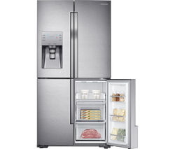 SAMSUNG RF56J9040SR/EU American-Style Fridge Freezer - Real Stainless