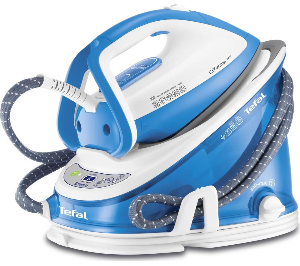 TEFAL Effectis Easy GV6760 Steam Generator Iron - Blue & White