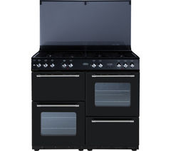 BELLING Country Range 100DFT Dual Fuel Range Cooker - Black