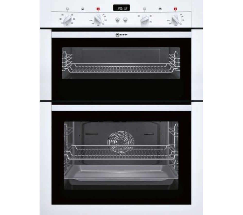 Buy neff u14m42w3gb electric double oven white t40b30x2 electric induction hob black - Neff electric ...