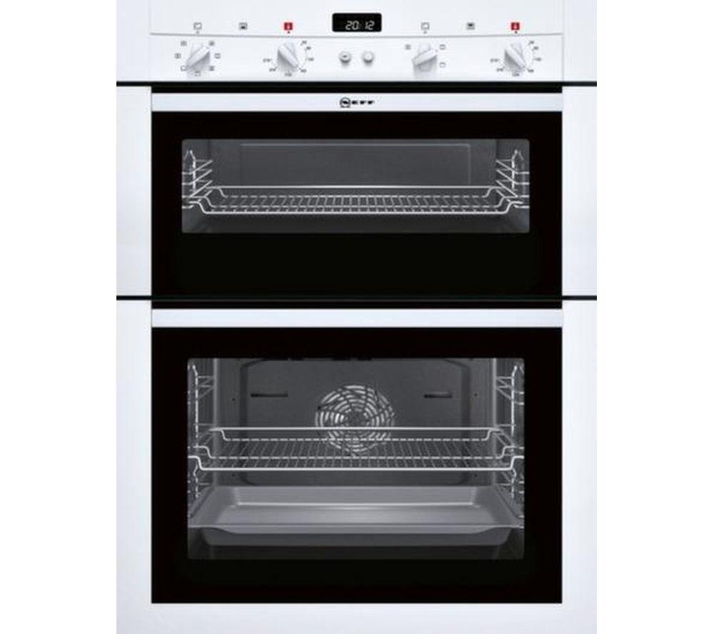 Image of Neff U14M42W3GB Electric Double Oven - White, White