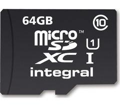 INTEGRAL UltimaPro Class 10 microSD Memory Card - 64 GB