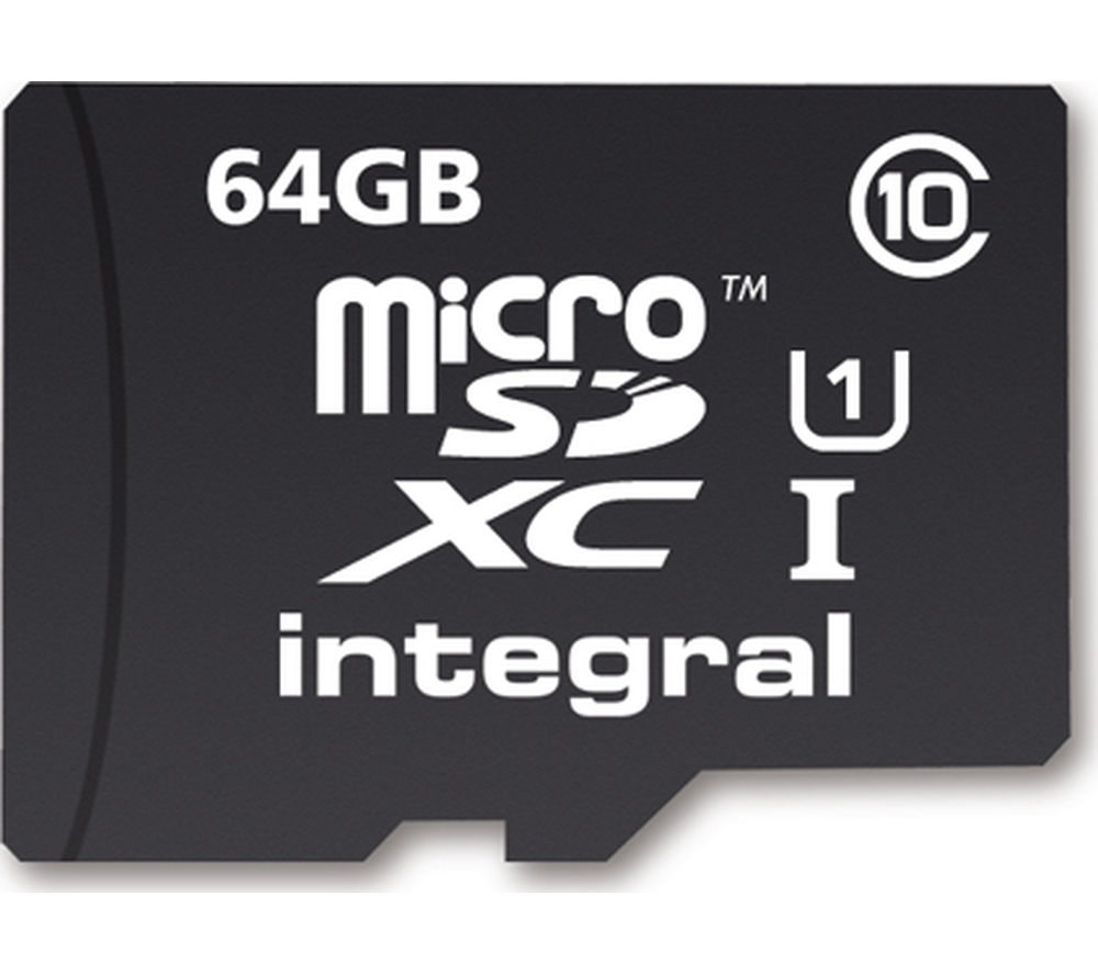 INTEGRAL  UltimaPro Class 10 microSD Memory Card - 64 GB.