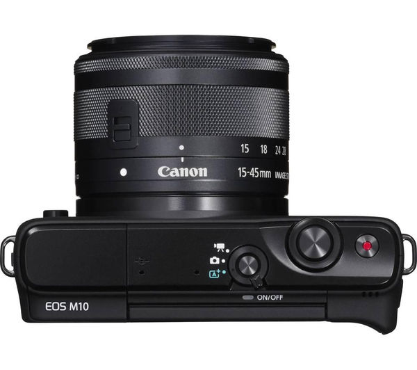 buy canon eos m10 compact system camera wide angle zoom. Black Bedroom Furniture Sets. Home Design Ideas