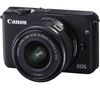 CANON EOS M10 Mirrorless Camera with 15-45 mm f/3.5-6.3 Lens - Black
