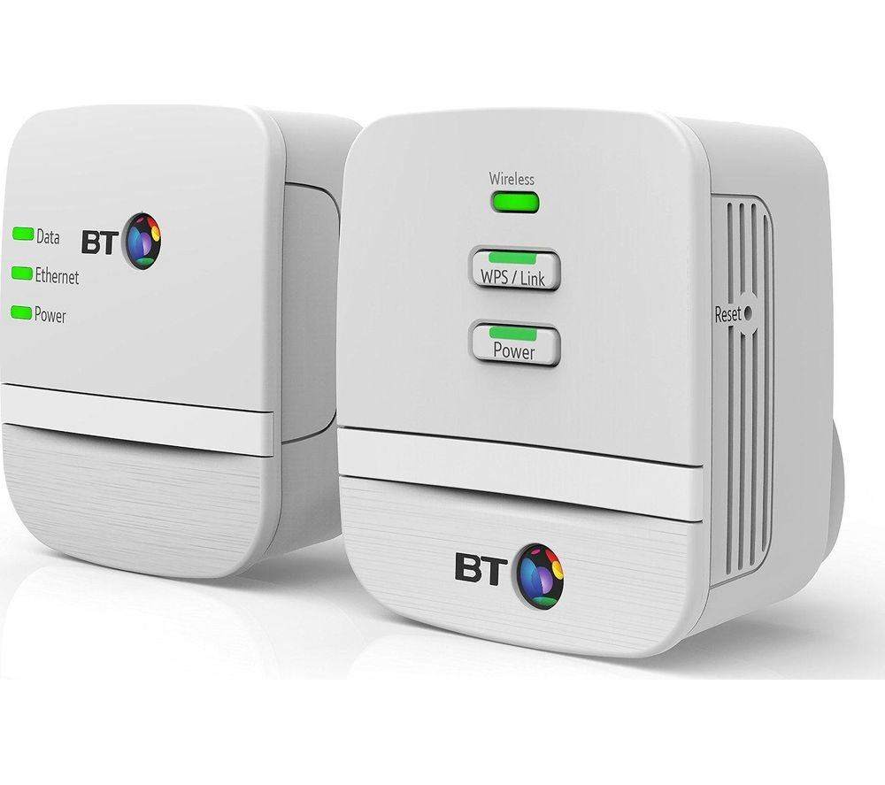 BT Mini Home Hotspot 600 Wireless Powerline Adapter Kit - Twin Pack