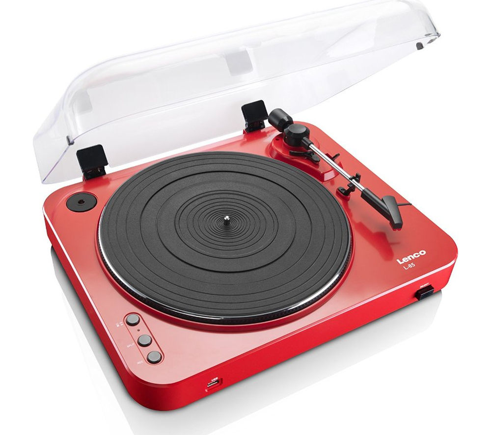 Click to view more of LENCO  L-85 Turntable - USB, Red, Red