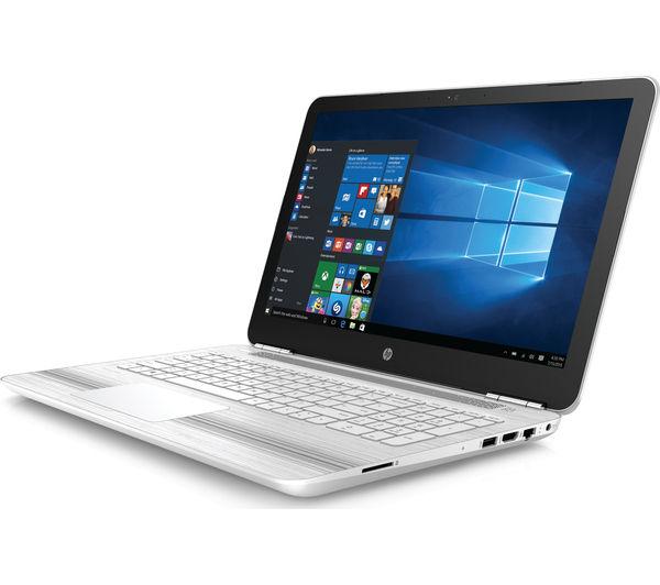 "Image of HP Pavilion 15-au077sa 15.6"" Laptop - White"