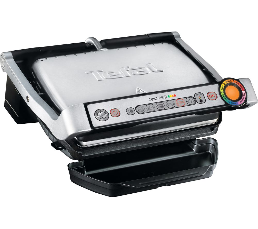 TEFAL  OptiGrill GC713D40 Health Grill  Stainless Steel Stainless Steel