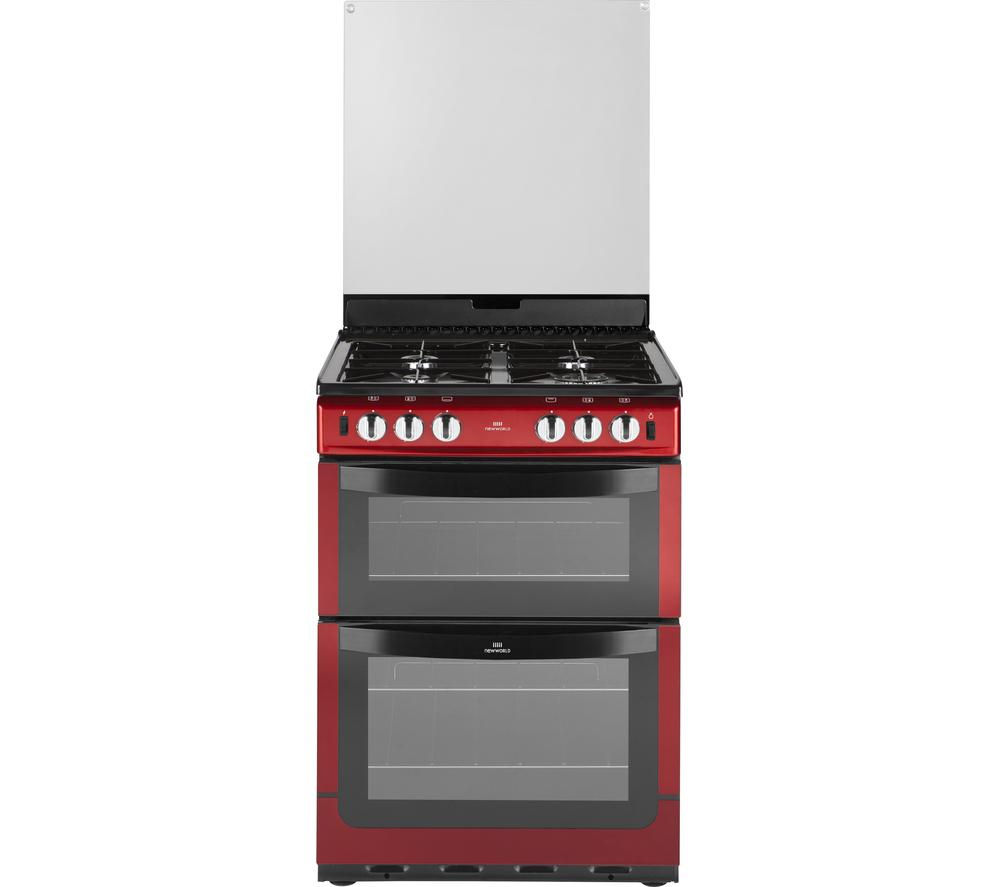 NEW WORLD NW601GTCL 60cm Gas Cooker - Metallic Red