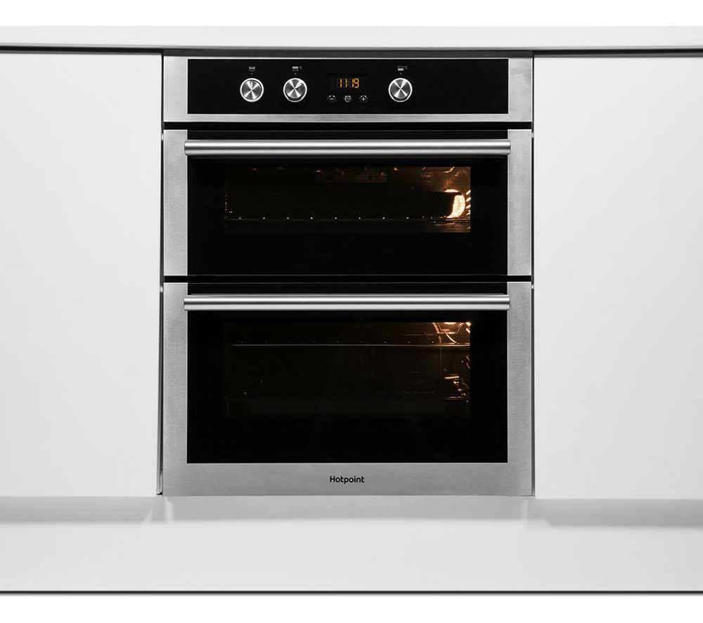 buy hotpoint class 4 du4541jcix electric built under double oven stainless steel free. Black Bedroom Furniture Sets. Home Design Ideas