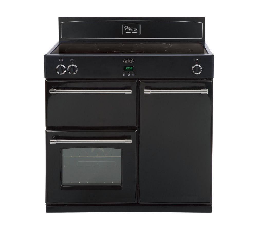 Buy belling classic 900ei electric induction range cooker for Table induction 90 cm