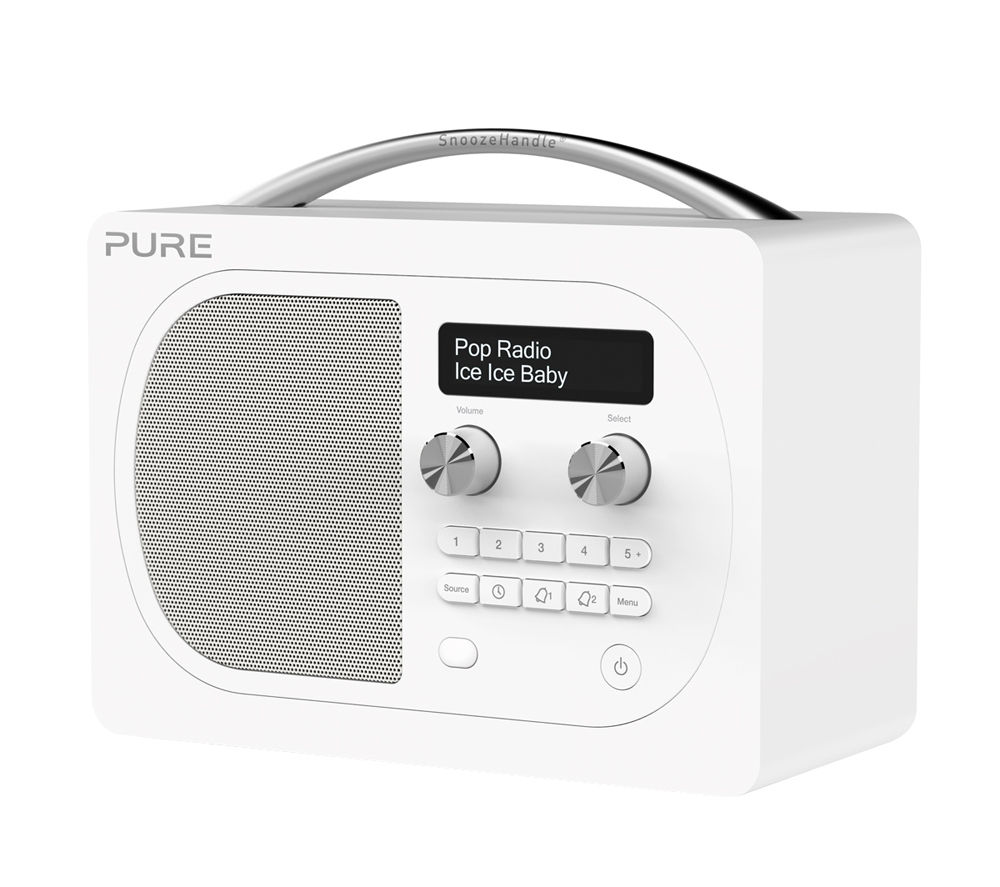 buy pure evoke d4 dab bluetooth radio white free. Black Bedroom Furniture Sets. Home Design Ideas