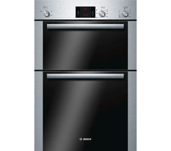 BOSCH Classixx HBM13B251B Electric Double Oven - Brushed Steel