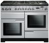 RANGEMASTER Professional Deluxe 110 Dual Fuel Range Cooker - Royal Pearl & Chrome