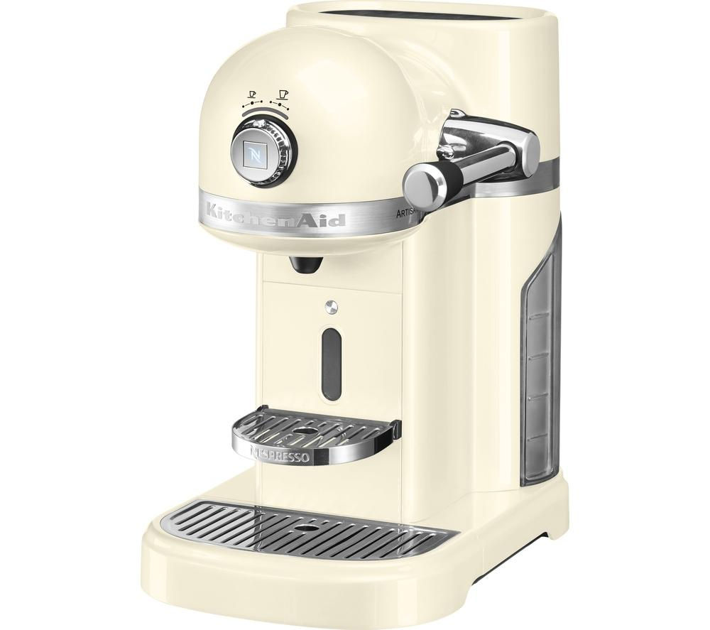 Kitchenaid Artisan Nespresso Coffee Machine Almond Cream