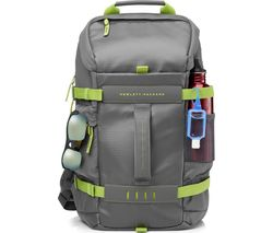 "HP Odyssey 15.6"" Laptop Backpack - Grey & Green"