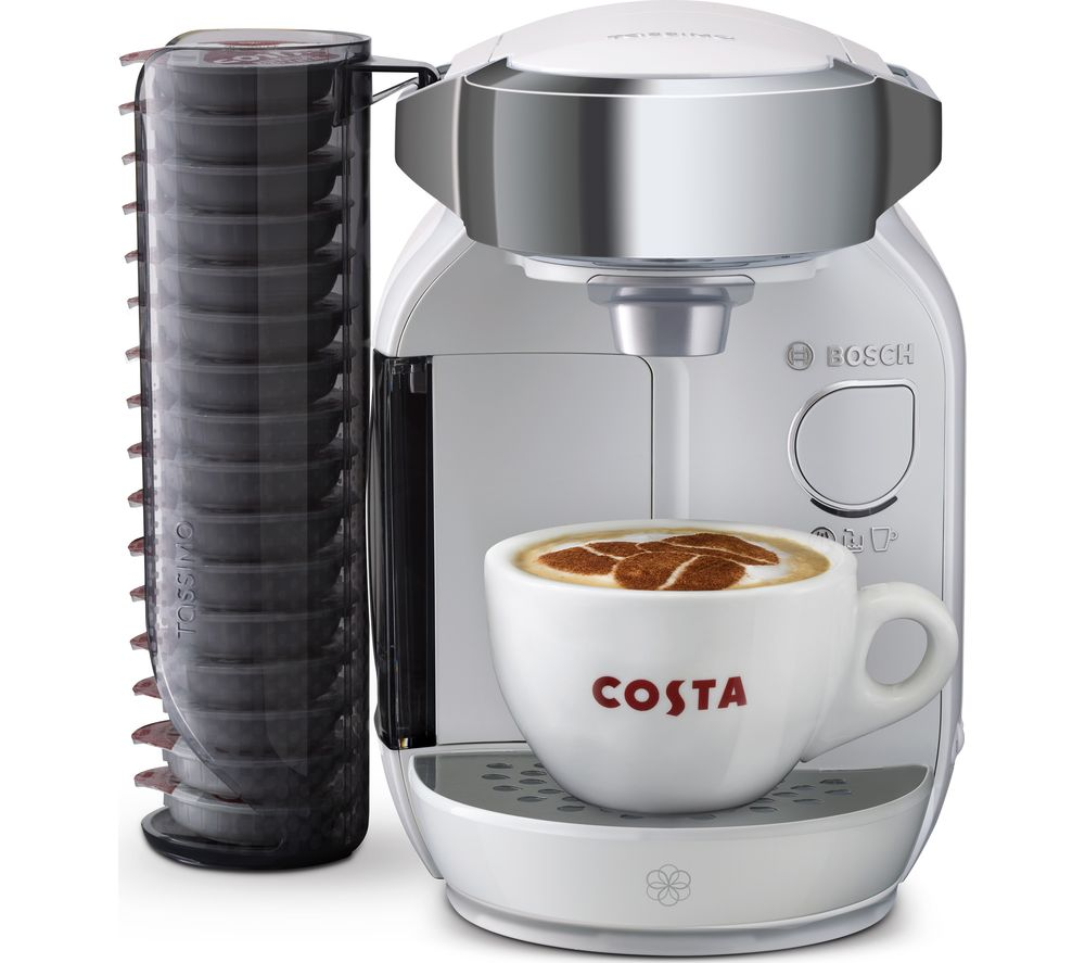 TASSIMO by Bosch Caddy TAS7004GB Hot Drinks Machine - White