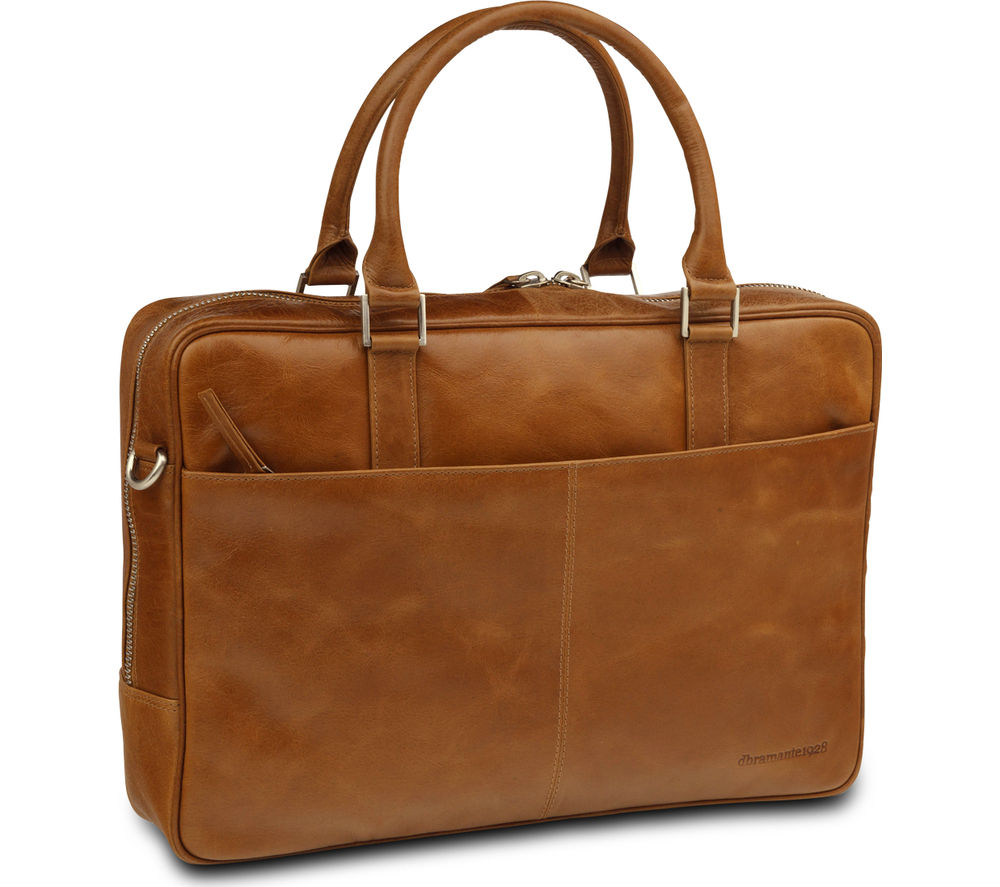 "DBRAMANTE 1928 Rosenborg 16"" Leather Laptop Bag - Tan"