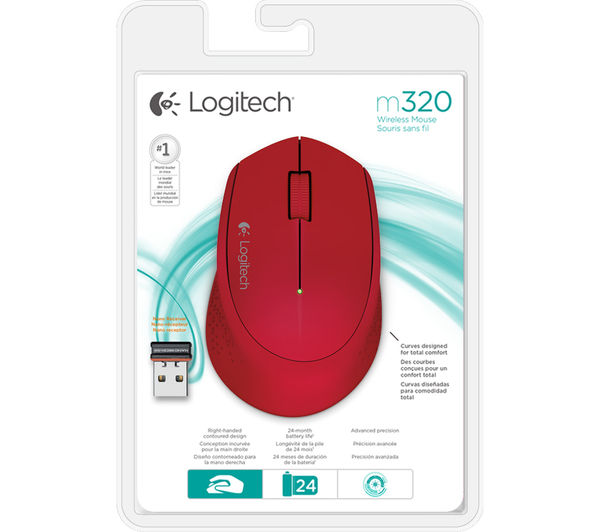 Image of LOGITECH M320 Wireless Optical Mouse - Red