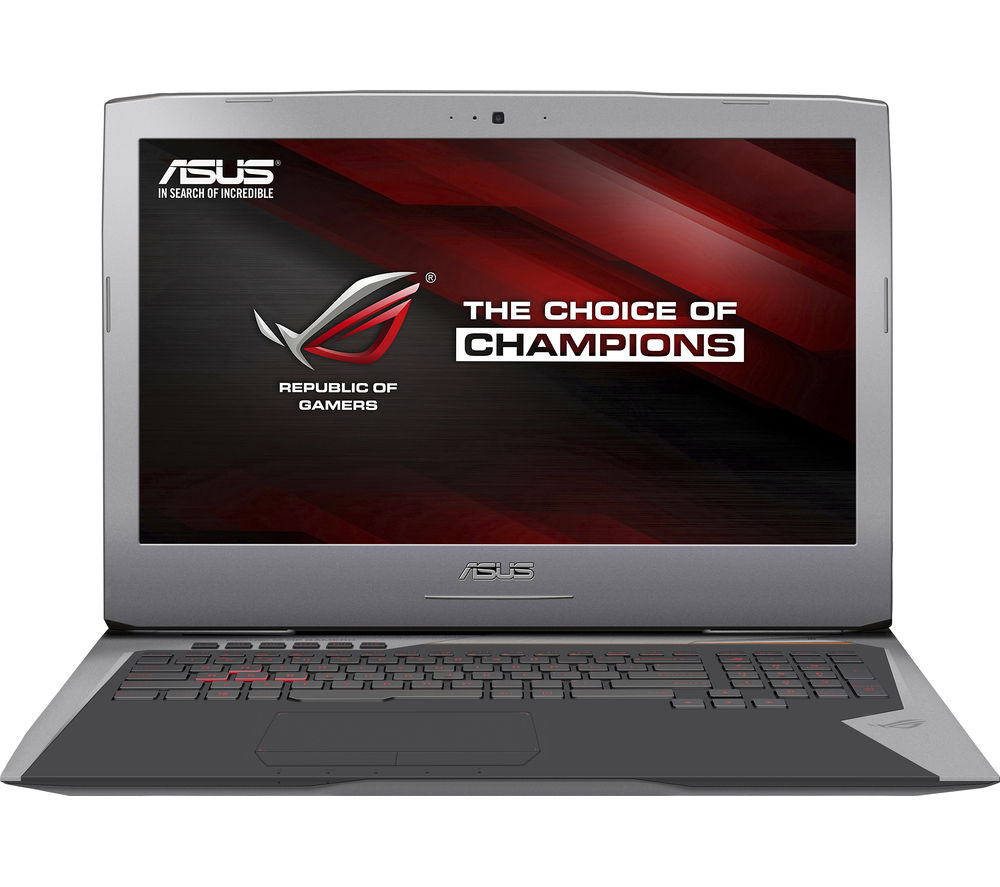 "Image of Asus Republic of Gamers G752VT-T7022T 17.3"" Gaming Laptop - Silver"