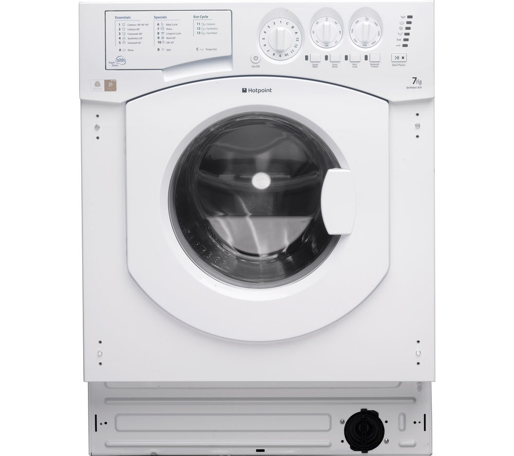 HOTPOINT Aquarius BHWM1492 Integrated Washing Machine - White
