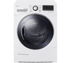 LG RC8055AH3M Heat Pump Tumble Dryer - White