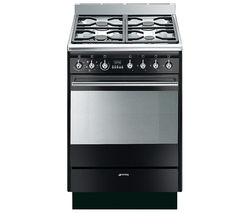 SMEG SUK61MBL8 Dual Fuel Cooker - Gloss Black