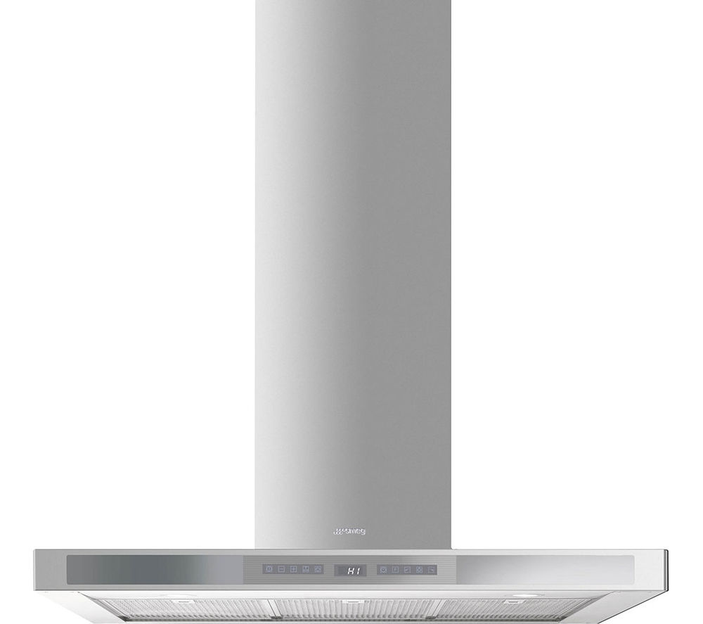 SMEG  KS912XE Chimney Cooker Hood  Stainless Steel & Silver Glass Stainless Steel