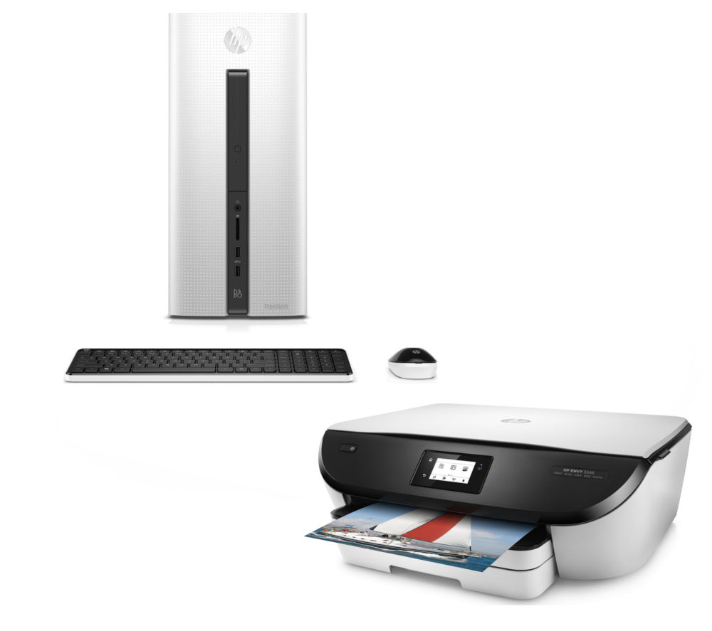 Image of HP Pavilion 550-203na Desktop PC & ENVY 5546 Printer Bundle